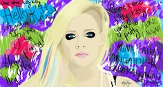 Avril Lavigne Hello Kitty Illustration by: Karina Mignoni