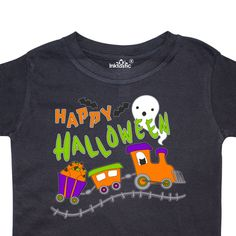 inktastic Trick or Treat Girl with Pumpkin and Brown Hair Toddler T-Shirt