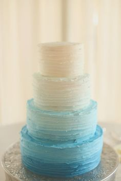 This four-tier blue