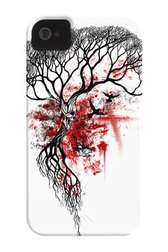 Skull Tree Phone Case for iPhone 4/4s,5/5s/5c, iPod Touch, Galaxy S4