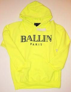 BRIAN LICHTENBERG Unisex HOODIE Fleece BALLIN PARIS Sweatshirt BLTEE Fluorscent
