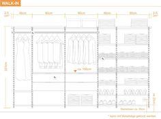 Montagehinweise - begehbarer Kleiderschrank System Aufbau