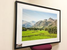 Langdale 75cm print in satin black hardwood.