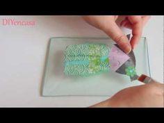 Decoupage craquelado en cristal. - YouTube