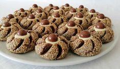 susamli-kurabiye-tarifi Turkish Delight, Afternoon Tea, Biscotti, Muffin, Food And Drink, Cookies, Breakfast, Desserts, Trust