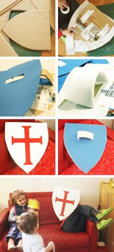 Faça você mesmo um escudo medieval pra festa! #casamento #medieval #criatividade