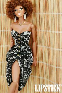 Natural hair dolls - love it! African Dolls, African American Dolls, African Art, Beautiful Barbie Dolls, Pretty Dolls, Fashion Royalty Dolls, Fashion Dolls, Diva Dolls, Dolls Dolls
