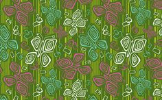 Tiki Time B-Fly fabric by heatherdutton on Spoonflower - custom fabric