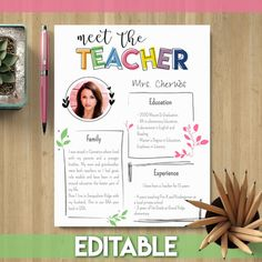meet the teacher ideas *** FREE for a Limited Time *** Meet the Teacher Template Get ready for Meet the Teacher night with this EDITABLE resource!You might also like:Parent Teache Parent Teacher Conference Forms, Parent Teacher Conferences, Back To School Night, First Day Of School, Second Grade Freebies, Meet The Teacher Template, Kindergarten Freebies, Back To School Activities, School Ideas