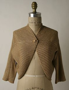 Bolero Missoni (Italian, founded 1953) Date: 1974 Culture: Italian Medium: silk, wool