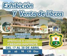 Desde hoy hasta el 28 de abril estaremos en la Universidad Nacional Agraria de la Selva #UNAS #SanCristobalLibros Te esperamos! #TigoMaria #HUANUCO