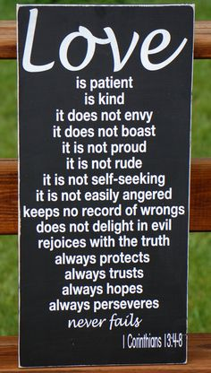 Love Is Patient 1 Corinthians Sign
