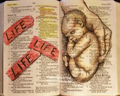 Although I am not religious, I found this to be especially beautiful. Diana sketched this beautiful little baby, being touched by God's mighty hand, right into her Bible during a worship set. The key scripture of Psalm 139 is visible and deeply moving. Scripture Art, Bible Art, Jesus Reyes, Religion, Life Is Precious, My Bible, Pro Life, Word Of God, Gods Love