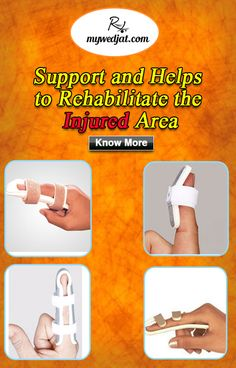 Finger support helps to promote healing and to prevent further injury