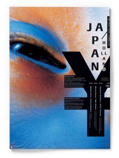 Bob van Dijk, Poster for Dutch design congress Japan/Holland Graphic Design Posters, Graphic Design Typography, Graphic Design Inspiration, Graphic Art, Graphic Designers, Book Cover Design, Book Design, Design Design, Modern Design