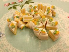 Miniature Food  Cake 006  5pcs Mix Colors 1213mm by SweetieTiny, $3.99