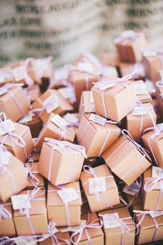 Boxes for wedding favors.