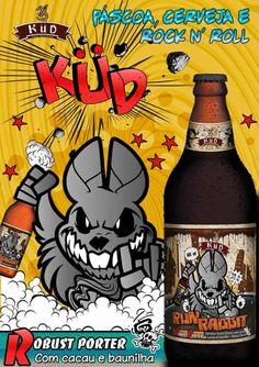 Cerveja Run Rabbit  Küd, estilo Porter, produzida por Cervejaria Küd, Brasil. 6.1% ABV de álcool.