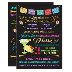 Linda's Couples Bridal Shower Fiesta Card - invitations custom unique diy personalize occasions