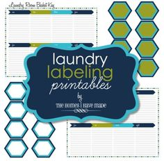 How to make printable tags with free printable labels to organize your home beautifully. These free printable label templates include blank labels, printable labels for kids, round and oval labels in many different colors and patterns. Laundry Labels, Soap Labels, Canning Labels, Laundry Tips, Free Printable Tags, Free Printables, Laundry Room Baskets, Basket Labels, Kids Labels