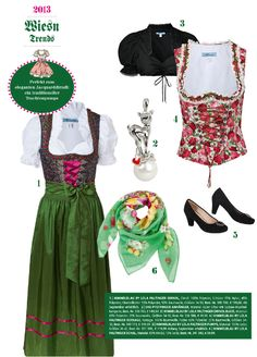 Für die elegante Dame: Das traumhaft schöne Dirndl von Lola Paltinger mit den dazu passenden, traditionellen Trachtenpumps und Accessoires.