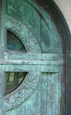Mausoleum door in Greenwood Cemetery, Wheeling WV