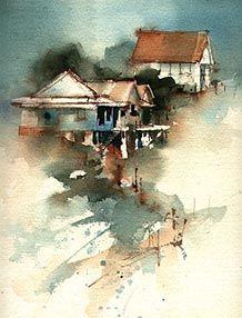 Watercolor tips for beginners + some lessons. http://www.johnlovett.com
