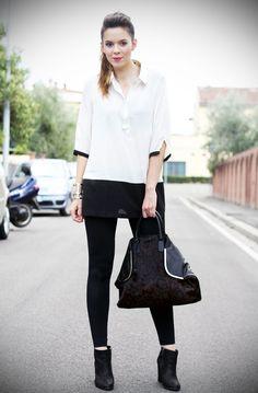 #fashion #fashionista Irene bianco nero Irene's Closet - Fashion blogger outfit e streetstyle: Una borsa leopardata