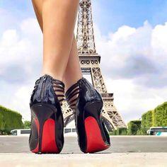 """Up Close and Stylish (@upcloseandstylish) """"Dreaming of Paris #LouboutinGortika100mm (photo taken with my iPhone. Worked on in the Apps PS…"""""""