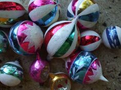 Colorful ornaments from Europe