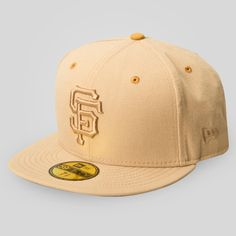 3a17dfdb4b7 Upper Playground - SF Giants New Era Fitted Cap in Tan Brown Sf Giants Hat