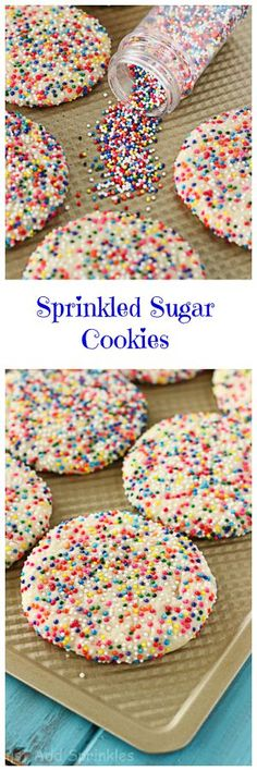 These cookies are soft, tender & chewy with lots of buttery, sugar cookie flavor.