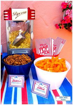 Fun themed snacks at a baseball birthday party! See more party ideas at CatchMyParty.com!