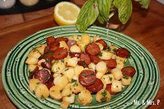 Mr and Mrs P: 10-Minute Chorizo and Scallops