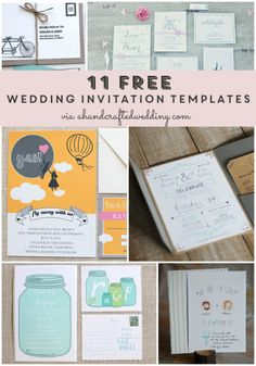 Take a look at these 11 FREE wedding invitation templates for brides on a budget or short on time! ahandcraftedwedding.com
