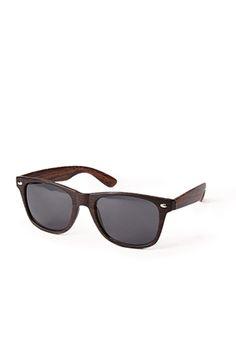 F1450 Wood Grain Wayfarer Sunglasses | FOREVER 21 - 1075021450
