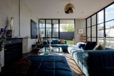 This Auckland home is a cabinet of curiosities filled to the rafters with meticulous design and well-curated art. Living Area, Living Spaces, Living Rooms, Grand Designs New Zealand, Cabinet Of Curiosities, Concrete Houses, New Builds, Auckland, Modern Architecture