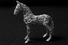 Richard McKown Aluminum Foil Sculpture Horse