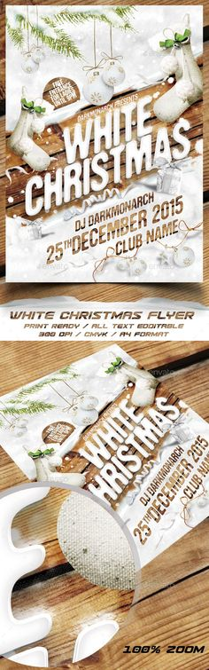 White Christmas Party Flyer Template PSD #design Download: http://graphicriver.net/item/white-christmas-party-flyer/13853775?ref=ksioks