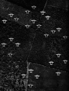 June 6, 1944: Lockheed P-38 Lightning fighter planes cross the English countryside on their way to France on D-Day....Awesome photo!