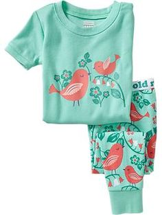 Girls Bird-Graphic PJ Sets | Old Navy
