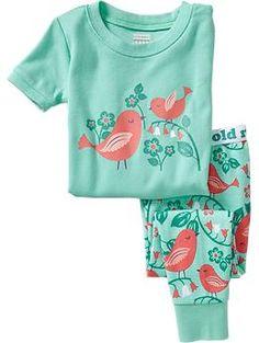 Girls Bird-Graphic PJ Sets | Old Navy