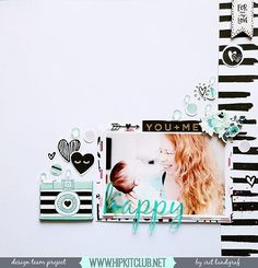 Designer @aurora_landgraf is sharing this awesome LO using #january2016 kits featuring @cratepaper @maggiehdesign #hipkits #hipkitclub #scrapbook #papercrafting