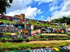 Baylor Street Art Wall, also known as Castle Hill