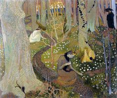 Maurice DENIS (1870-1943): April (Easter Morning), 1891. French painter and writer, and a member of the Symbolist and Les Nabis movements. His theories contributed to the foundations of cubism, fauvism, and abstract art.