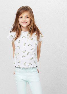 Bawełniana koszulka ze wzorem | MANGO KIDS