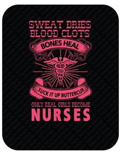 Nurses heal, bones break, suck it up buttercup custom shirt.  Design on back of shirt. RN LPN Nurse shirt. Many colors to choose from! - pinned by pin4etsy.com