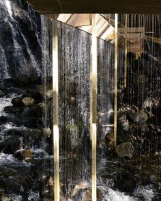 Bridal Veil Installation By Louis Sicard Creates A Curtain Of Water By Means Of The Forest   Decorik