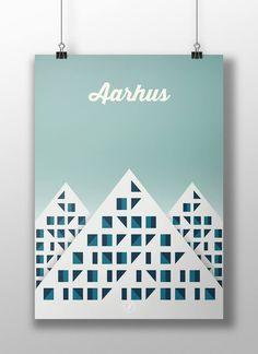 Aarhus. poster, design, art, illustration, adobe, artwork, Denmark