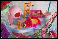 Pretty in pink Gerbil, Ferret, Pet Rat Cages, Pet Rats, Pets, Rat Care, Ash Ash, Pet Stuff, Shop Ideas